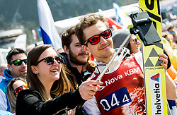 Simon Ammann (SUI) with fans during Ski Flying Hill Men's Team Competition at Day 3 of FIS Ski Jumping World Cup Final 2017, on March 25, 2017 in Planica, Slovenia. Photo by Vid Ponikvar / Sportida
