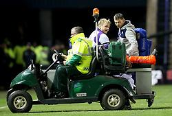 Scotland's Luke Hamilton is taken off with a leg injury in the second half during the Autumn International at BT Murrayfield, Edinburgh.