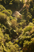 Aerial view of building in forest in Ronda, Spain