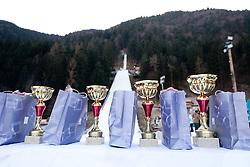 Trophies during FIS Continental Cup Ski Jumping Ladies in Ljubno, on January 23, 2011, at K-85 in Ljubno ob Savinji, Slovenia. (Photo By Vid Ponikvar / Sportida.com)