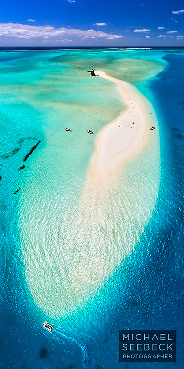 A beautiful view of an idyllic sand cay near the Isle of Pines, New Caledonia.<br /> <br /> Limited Edition of 125