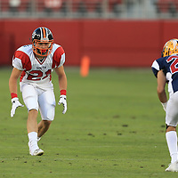 (Photograph by Bill Gerth/ for SVCN/6/24/17) Los Gatos Caden McCloughan  in the Charie Wedemeyer All Star Game at Levi Stadium, San Jose CA on 6/24/17. (North 13 South 13)