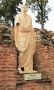 Statue of Emperor Tiberius, Aula Sacra, Merida, Extremadura, Spain
