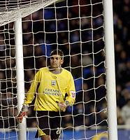 Photo: Leigh Quinnell.<br /> Reading v Southampton. Coca Cola Championship. 10/02/2006. Southampton goalkeeper Bartosz Bialkowski seen through the net.