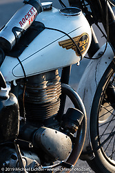 Scott Funk's 1946 BSA model C-11 in the Cross Country Chase motorcycle endurance run from Sault Sainte Marie, MI to Key West, FL (for vintage bikes from 1930-1948). Stage 4 saw a 315 mile ride from Urbana, IL to Bowling Green, KY USA. Monday, September 9, 2019. Photography ©2019 Michael Lichter.