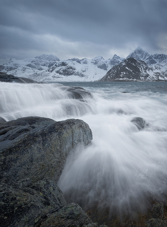A dreamy yet dramatic image from one of arctic Norway's beautiful coastlines.