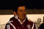 Nigel Clough during the Sky Bet League 1 match between Walsall and Sheffield Utd at the Banks's Stadium, Walsall, England on 17 March 2015. Photo by Alan Franklin.