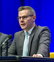 Pictured: Derek Mackay, Cabinet Secretary for Finance and the Constitution<br /> The members of the SNP gathered in the Scottish Events Centre in Glasgow for their annual conference.<br /> <br /> Ger Harley | EEm 9 October 2017