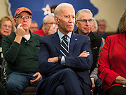 21 JANUARY 2020 - AMES, IOWA: Former US Vice President JOE BIDEN during a campaign event at the Gateway Hotel and Conference Center in Ames, Tuesday. About 150 people came to listen to former Vice President Biden talk about his reasons for running for President. Iowa hosts the first event of the presidential election cycle. The Iowa Caucuses are Feb. 3, 2020.       PHOTO BY JACK KURTZ