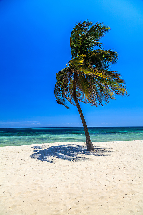 Tiwi beach on the Indian Ocean in Kenya. Tourists and locals regard Tiwi, and Diani beaches as best in Kenya because of their smooth white sand.