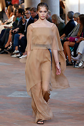 Model Anna Litvinova walks on the runway during the Alberta Ferretti Fashion Show during Milan Fashion Week Spring Summer 2018 held in Milan, Italy on September 20, 2017. (Photo by Jonas Gustavsson/Sipa USA)