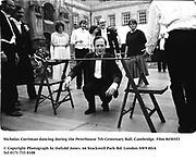 Nicholas Corriman dancing during the Peterhouse 7th Centenary Ball. Cambridge. Film 84503f3<br />© Copyright Photograph by Dafydd Jones<br />66 Stockwell Park Rd. London SW9 0DA<br />Tel 0171 733 0108