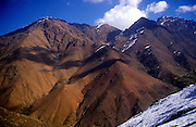 Mountain peaks near Imlil in the Atlas Mountains, Morocco