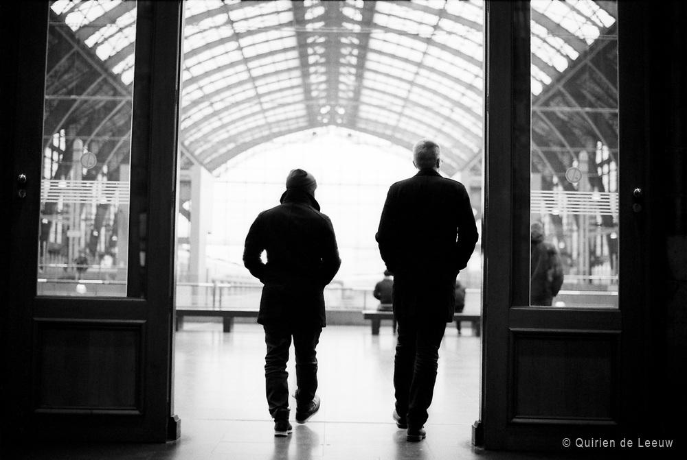 Entree op station Antwerpen Centraal, Belgie