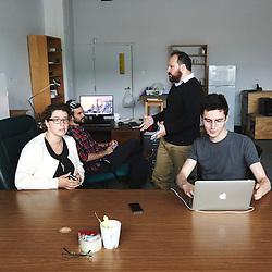 Montreal, QC, Canada. June 8, 2015. The Ricochet team, in their offices. Ricochet is an alternative and progressive media on Internet. Photo: Antoine Doyen