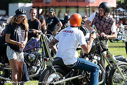 After the awards - heading out from the Born Free Motorcycle Show (BF11) at Oak Canyon Ranch, Silverado  CA, USA. Saturday, June 22, 2019. Photography ©2019 Michael Lichter.