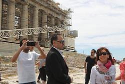 May 9, 2017 - Athens, Greece - Former Argentine president Cristina Fernandez de Kirchner visits Acropolis. Cristina Fernandez de Kirchner is in Athens invited by the governing SYRIZA party. (Credit Image: © Aristidis Vafeiadakis via ZUMA Wire)