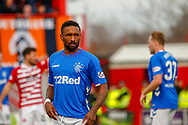 Rangers 2ng goal scorer Jermain Defoe during the Ladbrokes Scottish Premiership match between Hamilton Academical FC and Rangers at The Hope CBD Stadium, Hamilton, Scotland on 24 February 2019.