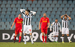 06.12.2012, Stadio Friuli, Udine, ITA, UEFA EL, Udinese Calcio vs FC Liverpool, Gruppe A, im Bild enttaeuscht Thomas Heurtaux (# 75, Udinese Calcio) // during the UEFA Europa League group A match between Udinese Calcio and Liverpool FC at the Stadio Friuli, Udinese, Italy on 2012/12/06. EXPA Pictures © 2012, PhotoCredit: EXPA/ Juergen Feichter