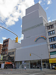 Exterior of New Museum of Contemporary Art in Manhattan New York City USA