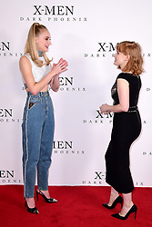 Sophie Turner (left) and Jessica Chastain (right) attending the X-Men: Dark Phoenix photocall held at Picturehouse Central, London.