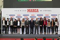 Spain´s Female soccer team receives an award during MARCA Football Awards ceremony in Madrid, Spain. November 10, 2014. (ALTERPHOTOS/Victor Blanco)