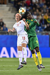 6?10?????????????????????????????????????.Sophie Schmidt (L) of Canada vies with Marlyse Ngo Ndoumbouk (R) of Cameroon during..???????????????2019?6?11?.?????????——E??????????????.?????????????2019??????????E???????????1?0??????.?????????..(SP)FRANCE-RENNES-2019 FIFA WOMEN'S WORLD CUP-GROUP E-CANADA VS CAMEROON..(190611) -- MONTPELLIER, June 11, 2019  the group E match between Canada and Cameroon at the 2019 FIFA Women's World Cup in Montpellier, France on June 10, 2019. Canada won 1-0. (Credit Image: © Xinhua via ZUMA Wire)