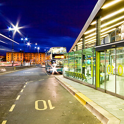 Another aspect of the Liverpool One development was a fancy new bus station.  It can essentially act as a wind tunnel but it looks nice at night.