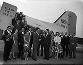 1959 - Silver City Airways inaugural flight from Blackpool to Dublin Airport