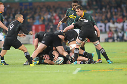 Pretoria, Loftus Versveld Stadium. Rugby Championship. South African Springboks vs New Zealand All Blacks.  06-10-18 The All Blacks with the upper hand in a loose scrum. All Black player Scott Barrett places the ball.<br /> Picture: Karen Sandison/African News Agency(ANA)