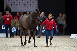 Dorothee SCHNEIDER (GER) & Sammy Davis Jr. - Horse Inspection - FEI World Cup™ Dressage Final - Longines FEI World Cup Finals Paris - Accor Hotels Arena, Bercy, Paris, France - 12 April 2018