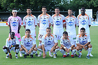 FOOTBALL - FRIENDLY GAMES 2010/2011 - FC LORIENT v STADE LAVALLOIS - 10/07/2010 - PHOTO PASCAL ALLEE / DPPI - ARNAUD BALIJON, ROMAIN JACCUZZI, ANTHONY LOSILLA, JOHANN CHAPUIS, FABIEN LAMATINA, FABRICE DOMARCOLINO. IN FRONT LINE: FREDERIC MENDY, JEREMY STINAT, LUDOVIC GENEST, BENJAMIN GRATON AND LINDSAY ROSE (LAVAL)
