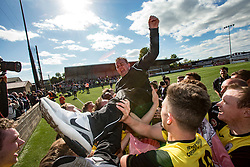 Edinburgh City's manager Gary Jardine. Edinburgh City became the first club to be promoted to Scottish League Two. East Stirling 0 v 1 Edinburgh City, League play-off game.