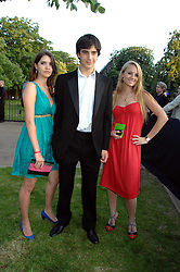 Left to right, the HON.LANA PALUMBO, the HON.PHILIP PALUMBO and the HON.PETRA PALUMBO at the annual Serpentine Gallery Summer Party in association with Swarovski held at the gallery, Kensington Gardens, London on 11th July 2007.<br />