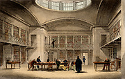 Plymouth Public Library. Illustration by Thomas Allom (1804-72) for 'Devonshire Illustrated', London, 1829. Engraving.
