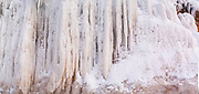Apostle Island Ice Caves, Makwike Bay, near Bayfield, Wisconsin, on a cold February day.