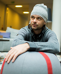 Portrait of Rok Flander, Slovenian Snowboarder two days before his fairwell run, on January 26, 2017 in 4Points by Sheraton Ljubljana Mons Hotel, Slovenia. Photo by Vid Ponikvar / Sportida