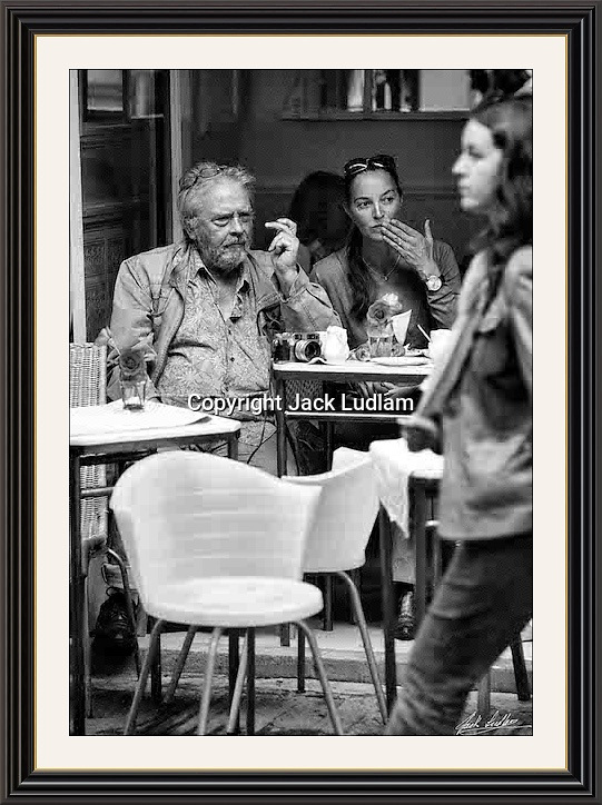 David Bailey people watching,With his camera soho London <br /> A2