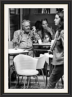 David Bailey people watching,With his camera soho London <br />