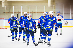 KOPITAR Anze, SABOLIC Robert celebrates during friendly game between Slovenia and Italy, on April 25, 2019 in Bled, Slovenia. Photo by Peter Podobnik / Sportida