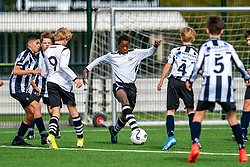 Shanun #14 of VV Maarssen  in action. VV Maarssen O14-1 played the fifth match of the competition against Hercules JO14-1. Maarssen lost 1-0 on October 10, 2020 at Sportpark Voordorp in Utrecht.