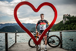 Rider Grega Bole posing at his home town Bled, on June 4, 2021, in Bled, Slovenia.  Photo by Grega Bole