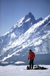 Ice fishing, jackson lake, grand tetons, grand teton national park, jackson, hole, wyoming