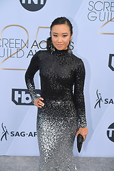 January 27, 2019 - Los Angeles, California, U.S - ELLEN WONG during silver carpet arrivals for the 25th Annual Screen Actors Guild Awards, held at The Shrine Expo Hall. (Credit Image: © Kevin Sullivan via ZUMA Wire)