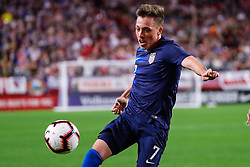 January 27, 2019 - Glendale, AZ, U.S. - GLENDALE, AZ - JANUARY 27:  United States midfielder Corey Baird (7) tries to control the ball during the international friendly soccer game between Panama and the United States on January 27, 2019 at State Farm Stadium in Glendale, Arizona. (Photo by Kevin Abele/Icon Sportswire) (Credit Image: © Kevin Abele/Icon SMI via ZUMA Press)
