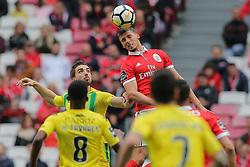 April 30, 2018 - Na - Lisbon, 04/28/2018 - Sport Lisboa e Benfica received this afternoon at the Estádio da Luz in Lisbon, CD Tondela in the 32nd matchday of the NOS Primera Liga, season 2017/2018.  b Rúben Dias  (Credit Image: © Atlantico Press via ZUMA Wire)