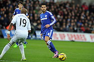 Cesc Fabregas of Chelsea in action. Barclays Premier League match, Swansea city v Chelsea at the Liberty Stadium in Swansea, South Wales on Saturday 17th Jan 2015.<br /> pic by Andrew Orchard, Andrew Orchard sports photography.