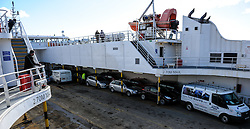 Vehicles aboard the car ferry mv Pentalina during a crossing from Scotland to the Orkney Islands.<br /> <br /> (c) Andrew Wilson | Edinburgh Elite media