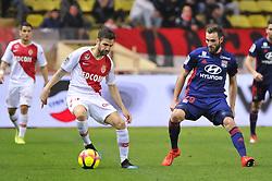 February 24, 2019 - Monaco, France - Cesc Frabregas (AS Monaco) - Lucas Tousart  (Credit Image: © Panoramic via ZUMA Press)