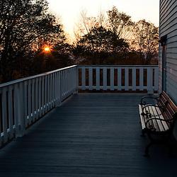Skinner Mountain House, Skinner State Park, Hadley, Massachusetts.  Sunrise.